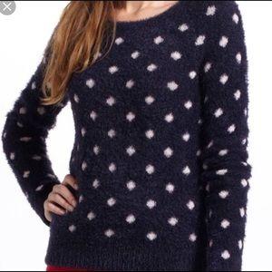 Anthropologie Moth Fuzzy PolkaDot Pullover Sweater